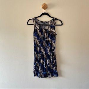 F21 Blue, White, Black Abstract Mini Dress